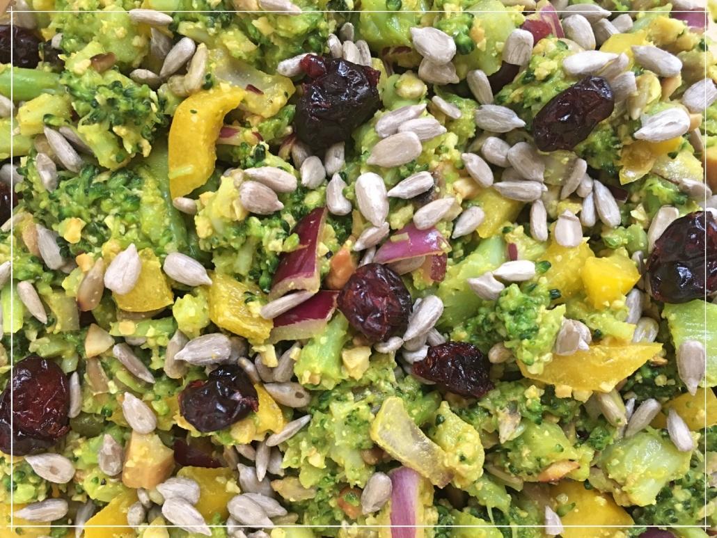 Close up vom Brokkolisalat