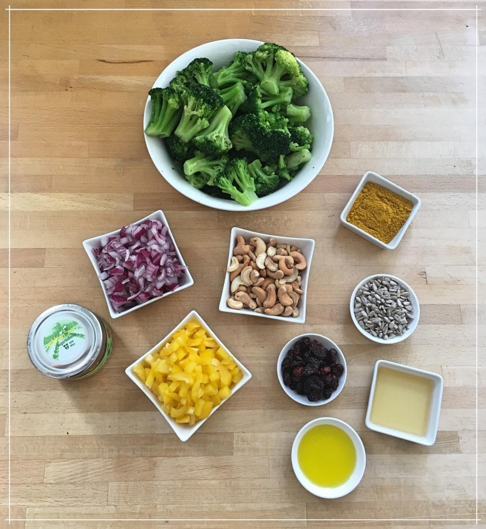 10 Zutaten hat der Brokkoli Salat